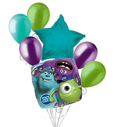 7 Pc Monsters Inc. Mike Sully Balloon Bouquet Party Decoration Disney Birthday