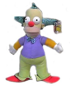 The Simpsons 14 Krusty The Clown Plush Doll
