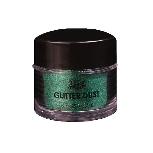 Green Cosmetic Grade Glitter Dust For Face Painting, Henna Or Dress-Up