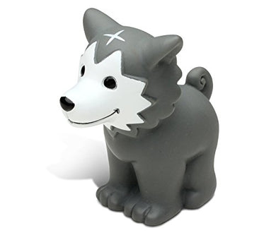 Puzzled Wolf Bath Buddy Squirter Gray 3 Inch