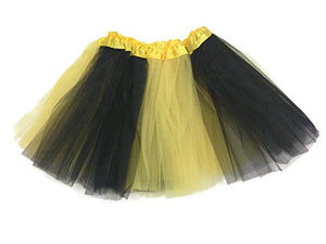 Rush Dance Colorful Ballerina Girls Dress-Up Princess Costume Recital Tutu (Kids 3-8 Years, Black/Yellow (Bee))