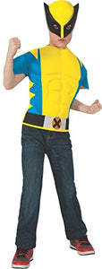 Rubies Marvel Universe Wolverine Muscle-Chest Costume Shirt With Mask, Child Size