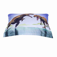Load image into Gallery viewer, Alicemall 3D Dinosaur Bedding Powerful Dinosaur Battle Blue 5-Piece Comforter Sets Unique 3D Dinosaur Quilt Bedding For Kids And Adults, Full Size (Full, Blue)
