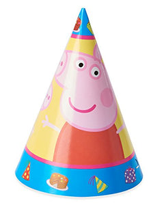 American Greetings Girls Peppa Pig Party Hats(8 Count)