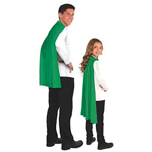 Party Perfect Team Spirit Superhero Cape Accessory, Green, Polyester , 30