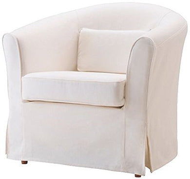 The Ektorp Tullsta Chair Cover Replacement Is Custom Made For Ikea Tullsta Cover, A Armchair Sofa Slipcover Replacement (White-Cotton)