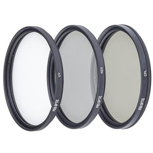 Prooptic 82Mm Digital Essentials Filter Kit, With Ultra Violet (Uv), Circular Polarizer And Neutral Density 2 (Nd2) Filters, With Pouch