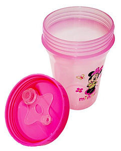 Minnie Mouse Water-Filled Teether , 1 Minnie Mouse Spill-Proof Cup. Plus Free Bonus  Disposable Baby Bib.