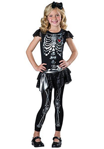 Incharacter Costumes Sparkly Skeleton Costume, One Color, 10