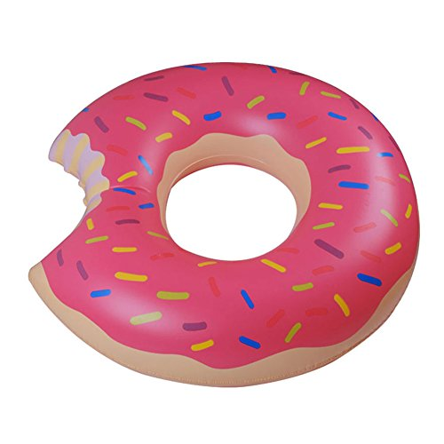 Woodbury Swim Rings Inflatable Donut Pool Ring Tube Kids Swim Party Toy Summer Lounge Raft Strawberry 80Cm