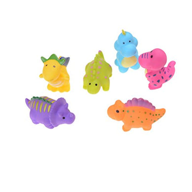 Snnplapla 6Pcs Dinosaur Rubber Squeaking Toy Kid Cognitive Pvc Bath Toys
