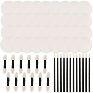 Custom Body Art 60-Piece Face Paint Applicator Set With Sponges & Foam Brushes