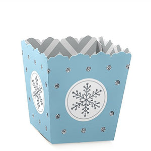 Winter Wonderland - Winter Wedding Candy Boxes Party Favors (Set Of 12)