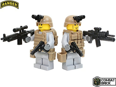 Us Army Rangers 2 Men Special Forces Recon Patrol Pack - Custom Army Builder Military Minifigures By Combatbrick