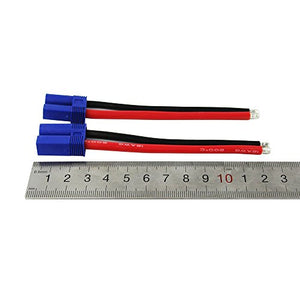 Oliyin 2 Pairs Ec5 5.0Mm Male Female Banana Connector With 12Awg Silicone Wire 3.93 Inch Rc Hobby Lipo Battery