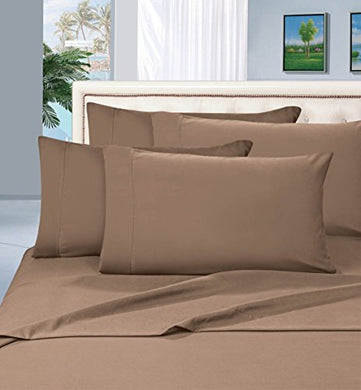 #1 Best Seller Luxury Pillowcases On Amazon! Highest Quality - Elegance Linen 1500 Thread Count Egyptian Quality Luxury Silky Soft Wrinkle-Resistant 2-Piece Pillowcases, King Size - Taupe