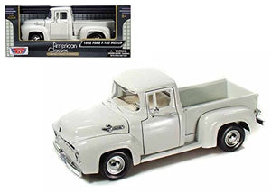 New 1:24 W/B American Classics Collection - White 1956 Ford F-100 Pickup Truck Diecast Model Car By Motor Max