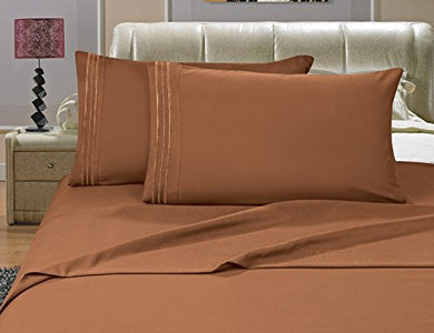 #1 Best Seller Luxury Pillowcases On Amazon!! - Highest Quality 1500 Thread Count Egyptian Quality Wrinkle, Fade, Stain Resistant - Hypoallergenic - 2-Piece Pillowcases, King, Bronze