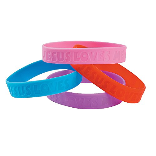 Jesus Loves Me Vbs Bracelets (30 Pieces) 7  Circ.