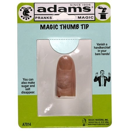Adams Pranks And Magic - Magic Thumb Tip - Classic Novelty Magic Toy