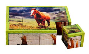 Farm Animals Cube Puzzles, 6 Puzzles In 1