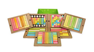 240 Piece Tegu Classroom Magnetic Wooden Block Set, Tints