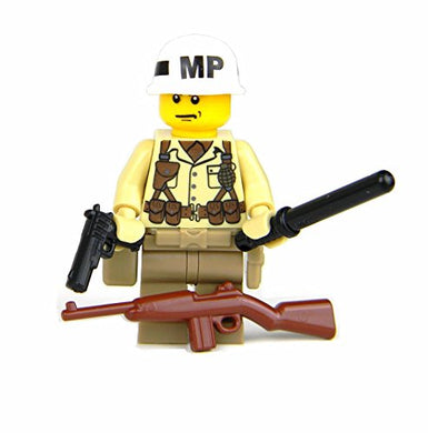 Ww2 U.S. Army Military Police  Mp  (Sku72)- Battle Brick Custom Minifigure