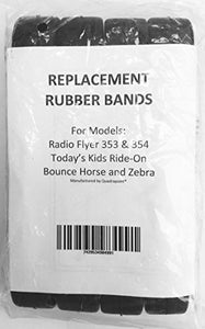 4 Replacement Rubber Bands For Radio Flyer / Today'S Kids Bounce Horse Pony / Zebra