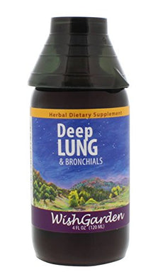 Wishgarden Herbs - Deep Lung, Organic Herbal Supplement For Healthy, Strong Lungs, Promotes Natural Blood Oxygenation (4 Oz Jigger)