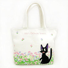 Load image into Gallery viewer, Sun Arrow Studio Ghibli Kiki'S Delivery Service Chenille Letter Tote Bag  Jiji At Flower Garden  Size S V-7994