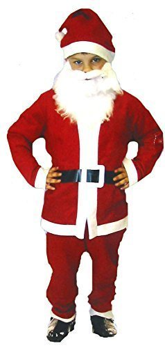 Small Santa Father Christmas - Child'S Dressing Up Outfit (Ages 4-6 Years) By Henbrandt