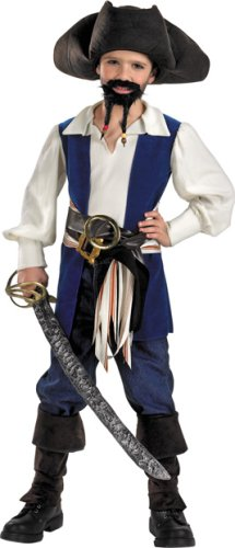 Disney'S Pirates Captain Jack Standard Costume: Boy'S Size 4-6