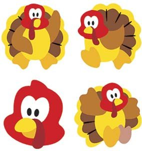 Trend Enterprises Turkey Time Super Shapes Stickers (800 Piece)