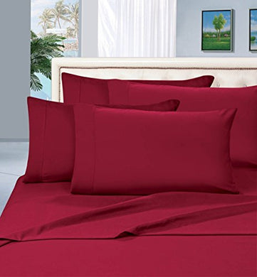 #1 Best Seller Luxury Pillowcases On Amazon! Highest Quality - Elegance Linen 1500 Thread Count Egyptian Quality Luxury Silky Soft Wrinkle-Resistant 2-Piece Pillowcases, King Size - Burgundy