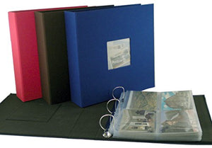 Postcard Collecting Binder Page Assortment, 25 Clear Plastic Pocket Pages Fit Any 3 Ring Binder