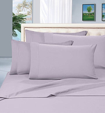 #1 Best Seller Luxury Pillowcases On Amazon! Highest Quality - Elegance Linen 1500 Thread Count Egyptian Quality Luxury Silky Soft Wrinkle-Resistant 2-Piece Pillowcases, King Size - Lilac