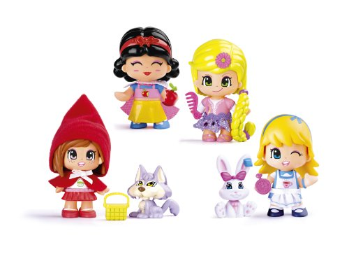 Pinypon Fairy Tale 4 Figure Set With 2 Pets And Accesories