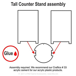 Tall Counter Stands