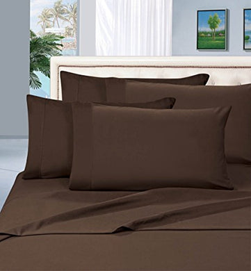 #1 Best Seller Luxury Pillowcases On Amazon! Highest Quality - Elegance Linen 1500 Thread Count Egyptian Quality Luxury Silky Soft Wrinkle-Resistant 2-Piece Pillowcases, King Size - Chocolate Brown