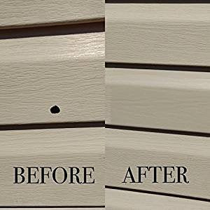 Contractor  Mendyl Vinyl Siding Repair Kit, Cover Any Cracks, Holes, Or Blemishes On Vinyl Siding - 10 Patches