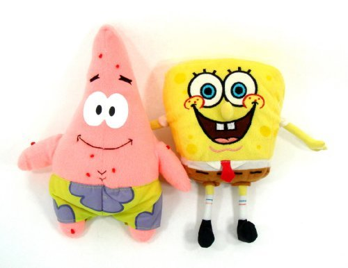 Spongebob Squarepant And Patrick The Starfish 9 Plush Set - 2 Piece Set
