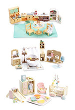 Load image into Gallery viewer, Calico Critters Of Cloverleaf Corners Furniture Bundle  Deluxe Bathroom Set With Babys Nursery Set And Kozy Kitchen Set  Build Skills With Imaginative Play