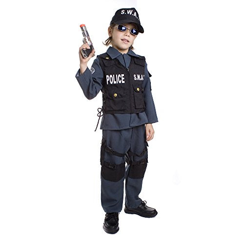 Deluxe Childrens S.W.A.T. Police Officer Costume Set - Toddler