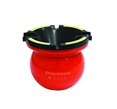 Glow In The Dark Premium Multi Function Portable Spittoon Cigarette Cigar Ashtray - Orange