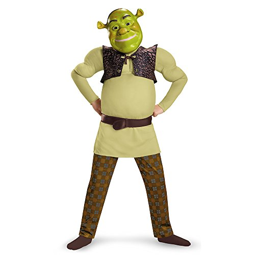 Disguise Shrek Classic Muscle Costume, Small (4-6)