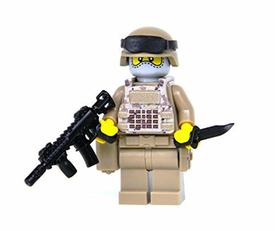 Us Army Digital Camouflage Soldier (Sku11)- Battle Brick Custom Minifigure