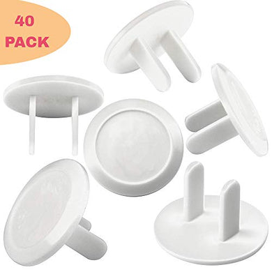 Me Superb Deals 40 Count Premium Quality Childproof Outlet Covers  Value Pack  New &Amp; Improved Plastic Baby Proofing Caps  Durable &Amp; Steady  Plugs