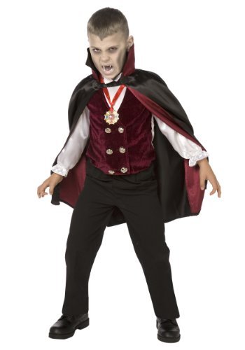 Big Boys' Boy Deluxe Vampire Costume Medium (8-10)