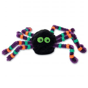 Halloween Beaded Spider Foam Activity (Black/Purple) Party Accessory