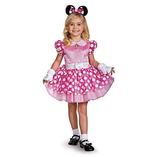 Disguise 67807K Pink Minnie Classic Tutu Costume, Medium (7-8)